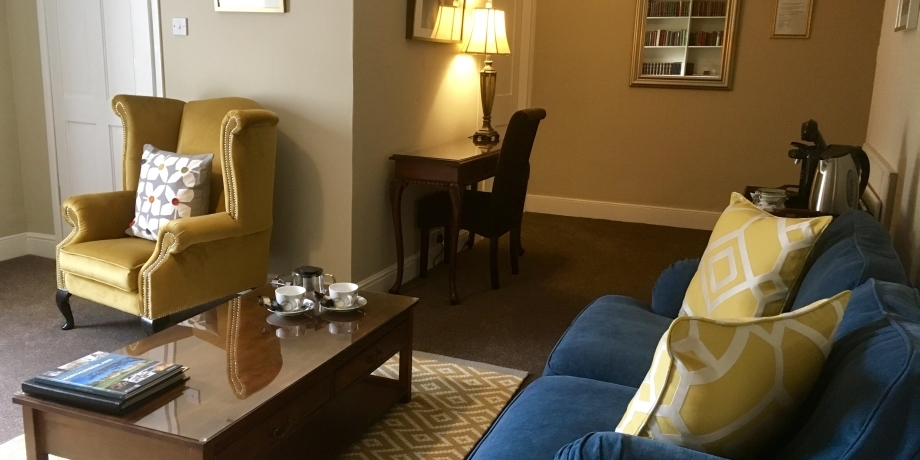 Cheviot Suite lounge at Chatton Park Bed and Breakfast Alnwick